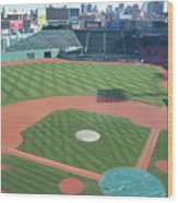 Shadows Of  Fenway Park Wood Print