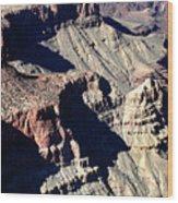 Shadows Of Grand Canyon Wood Print