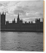 Shadows Of Parliament Wood Print