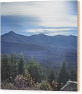 Shadows Of The Majestic , White Mountains Wood Print