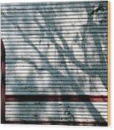 Shadows On Churchdoor Wood Print