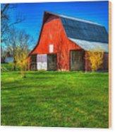 Shadows On The Barn Tennessee Farm Art Wood Print