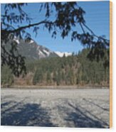 Shadows On The Coquihalla River  Wood Print