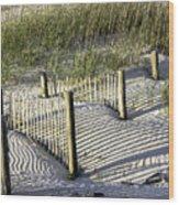 Shadows On The Dune Wood Print