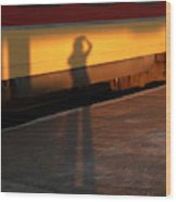 Shadows On The Platform 2 Wood Print