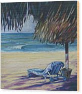 Shady Beach Wood Print
