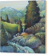 Shady Creek Wood Print