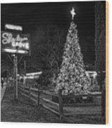 Shady Grove Austin Bw Wood Print