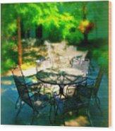 Shady Table Wood Print
