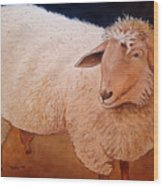 Shaggy Sheep Wood Print