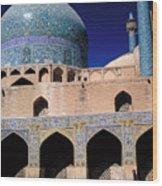 Shah Mosque At Isfahan In Iran Wood Print