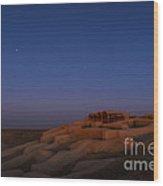 Shahr-e Sukhteh, Iran, At Twilight Wood Print