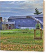 Shaker Barn And Sorghum Mill Wood Print