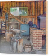 Shaker Blacksmith Barn Wood Print