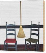 Shaker Chairs And Broom Wood Print