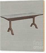 Shaker Dining Table (marble Top) Wood Print