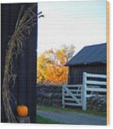 Shaker Fall Decor 2 Wood Print