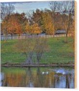 Shaker Lake 5 Wood Print