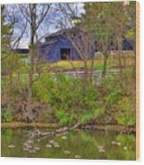 Shaker Lake Geese Wood Print