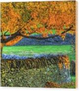 Shaker Stone Fence 1 Wood Print