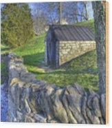 Shaker Stone Fence 6 Wood Print