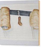 Shaker Women Bonnets And Sock Form Wood Print