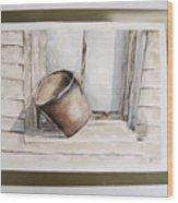 Shakertown Bucket Wood Print