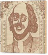 Shakespeare Wood Print