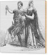 Shakespeare: Macbeth, 1845 Wood Print