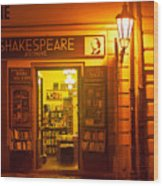 Shakespeares' Bookstore-prague Wood Print by John Galbo