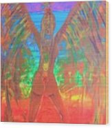 Shakti Angel Wood Print