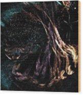 Shaman Dancing With Spirits Wood Print