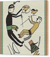Shaman Hunting Ritual Dream Wood Print
