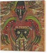 Shaman Says Walk Softly And Carry A Big Schtik Wood Print