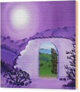 Shaman's Gate To Summer Wood Print