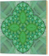 Shamrock In Abstract Wood Print