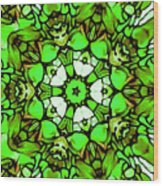 Shamrock Pattern Wood Print
