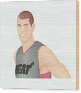 Shane Battier Wood Print