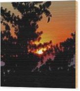 Shangrila Sunset Wood Print