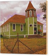 Shaniko School District Sixty Seven Wood Print
