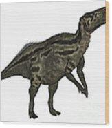 Shantungosaurus Dinosaur Wood Print