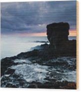 Shaped By The Waves Wood Print by Mike  Dawson
