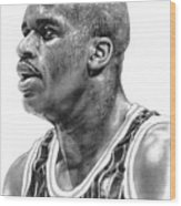 Shaq O'neal Wood Print by Harry West