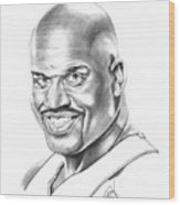 Shaquille O'neal Wood Print