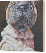 Shar Pei Pup Wood Print