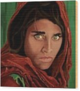 Sharbat Gula From Nat Geo Mccurry 1985 Wood Print