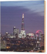 Shard Oxo Tower London Eye Walkie Talkie From Balfron Tower Wood Print