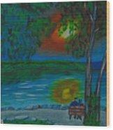 Shared Sunset Hamilton  Wood Print