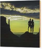 Sharing A Monument Valley Sunrise Wood Print