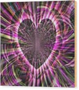 Sharing Heart With Gladness Wood Print